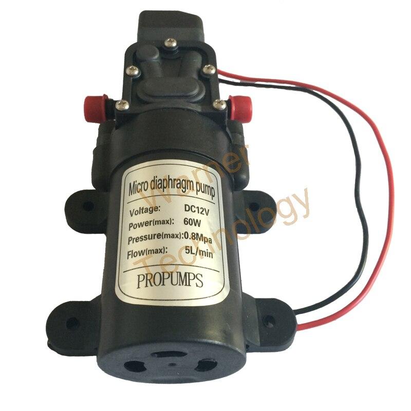 ФОТО 3pcs Small Diaphragm pump 0142YA 12V 60W Micro Self-Priming pump Spray pump 0.8MPa 5L/ Min, Max Head 60M For Water washing