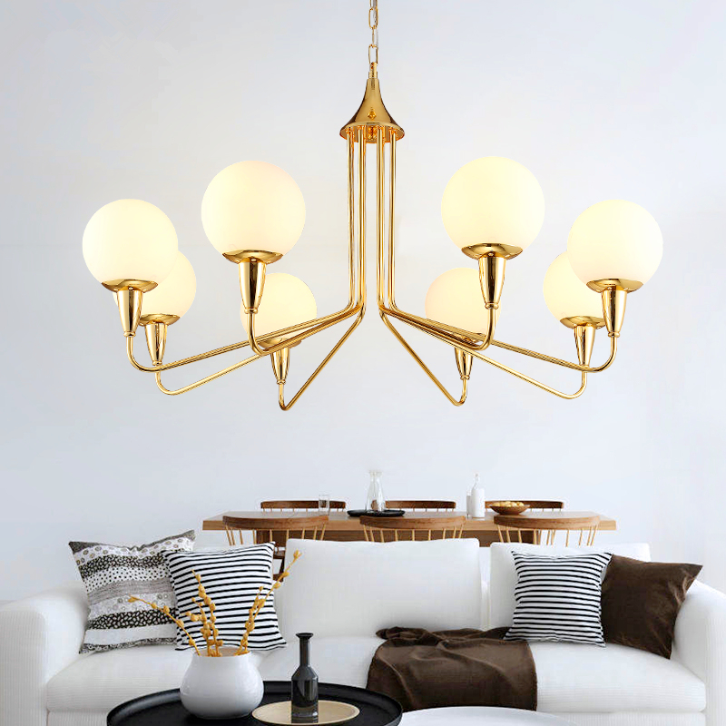 Mediterranean living room hanging lights modern minimalist American restaurant chandelier bedroom glass chandeliers restaurant white chandelier glass crystal lamp chandeliers 6 pcs modern hanging lighting foyer living room bedroom art lighting