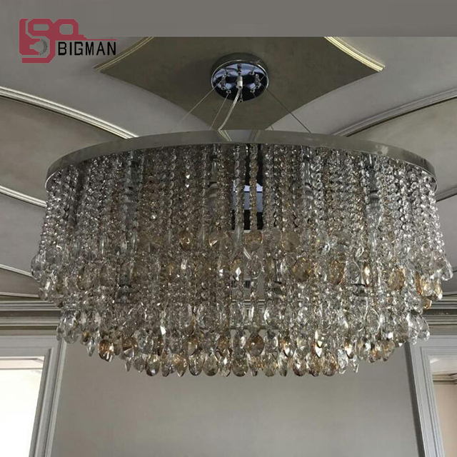 Mooie ontwerp grote moderne kristallen kroonluchter woonkamer lamp ...