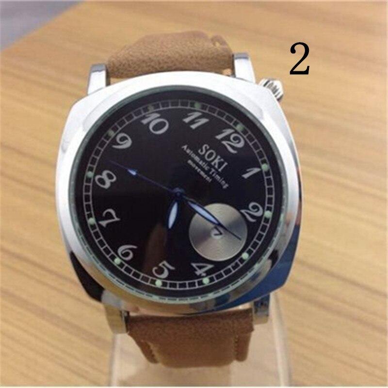 wu's New watch belt trend Korean fashion multi-function quartz watch sports men's watch цена и фото