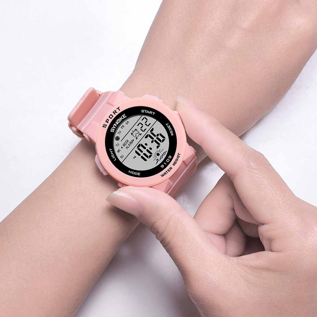 children's watch with gps Student Fashion Colorful Luminous Multi Function Cherry Powder Electronic Watch girls watches kids