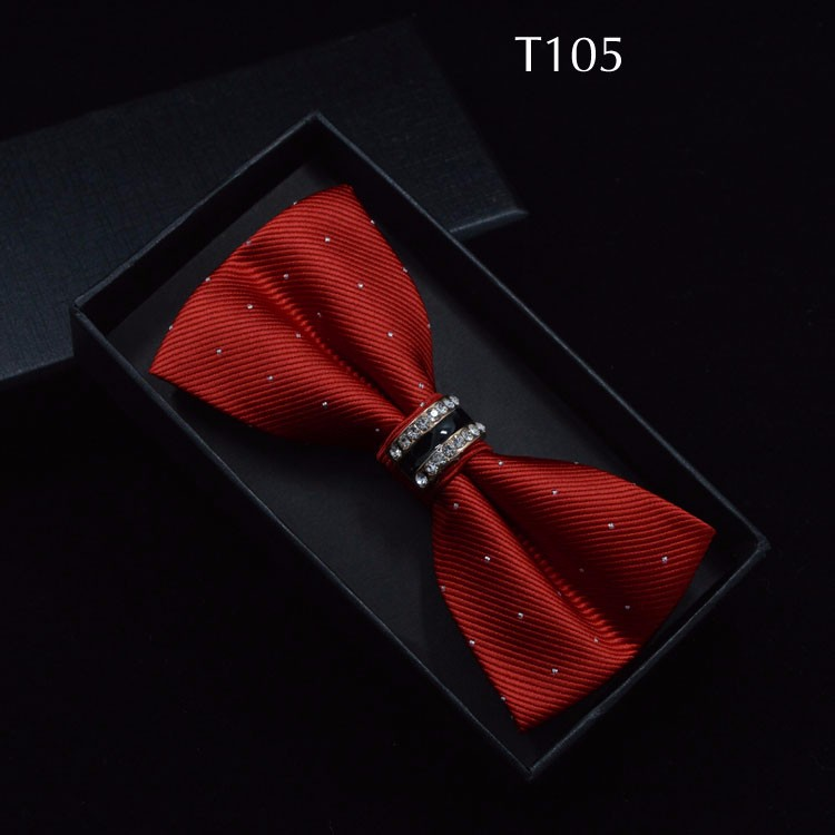 Tuxedo Metal Crystal Wedding Bow Tie Men Women Butterfly Knot Cravat Black Purple Blue Jujube Red Groom Party Banquet Meet Club 4