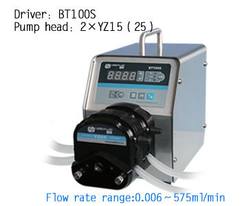 BT100S-1  2 x YZ15 Highly Lab Industrial chemical Instrument Variable Speed  Silicone Tubing Peristaltic Pump 0.006-420 ml/min peristaltic plus s с 1 мес 2 шт