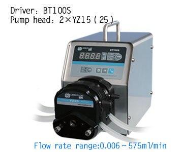 BT100S 2 x YZ15 Altamente Lab Strumento Industriale chimica Tubi In Silicone Pompa Peristaltica A Velocità Variabile 0.006 420 ml/min