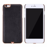 Stylish Q1 Magnetic Leather PC Case Car Mobile Phone Holder Wireless Charging Receiver Case For IPhone