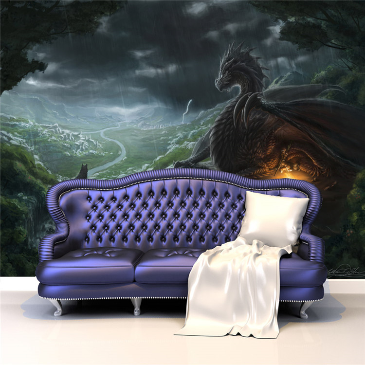 Us 17 0 37 Off Dragon And Wolf Photo Wallpaper Custom Large Wallpaper Wild Style Mural Wall Painting Art Room Decor Bedroom Home Decoration In