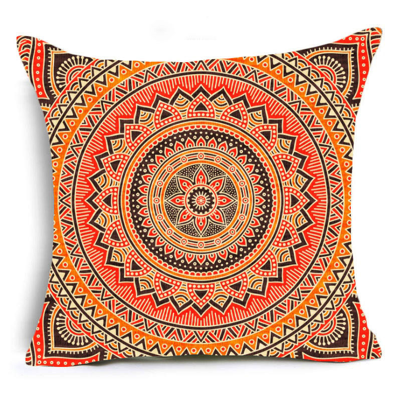 Mandala Print Sofa Cushion Covers