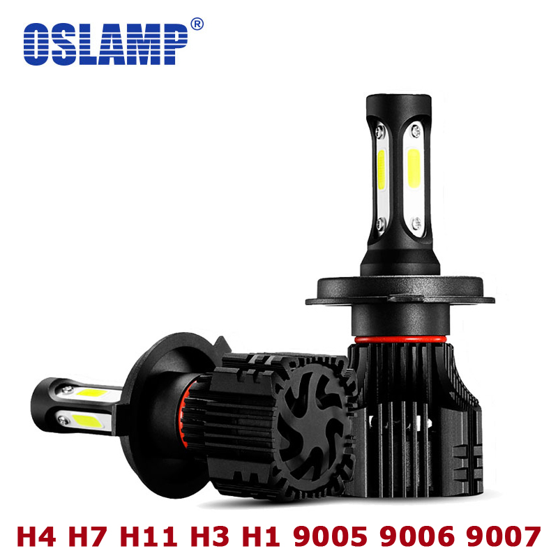 Oslamp H4 Led Car Headlight 72W 8000LM 6500K Led H7 H1 Car Bulbs S5 COB 9007 9005 HB3 9006 HB4 H3 Headlamp Kit Auto H11 Fog Lamp