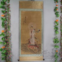 China Antique collection Calligraphy and painting the Goddess of mercy portraits /1