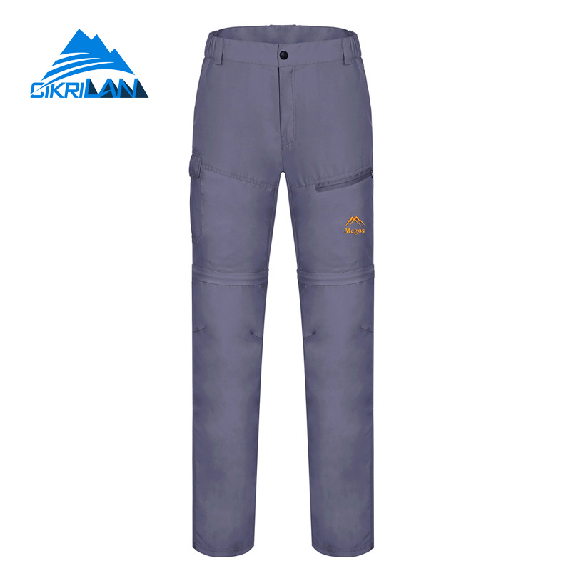 ФОТО 5 colors Sun Protection Zip Off Leg Outdoor Sport Hiking Fishing Quick Dry Pants Women Gray Pantalones Mujer Anti-uv Trousers