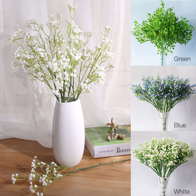 1PC Artificial Babys Breath Graceful Plastic Flowers For Wedding Home Decorative Party Living Room P20