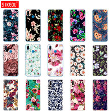 Case For Huawei P20 LITE Case Silicone Cover For Huawei P20 Pro Fundas 360 Full Protective Coqa Flowers Print Painted Shells(China)