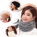 Outono inverno tecido duplo engrossado beijirong collar manga cap cabeça cachecol multifuncional chapéu morno mulheres grávidas cap