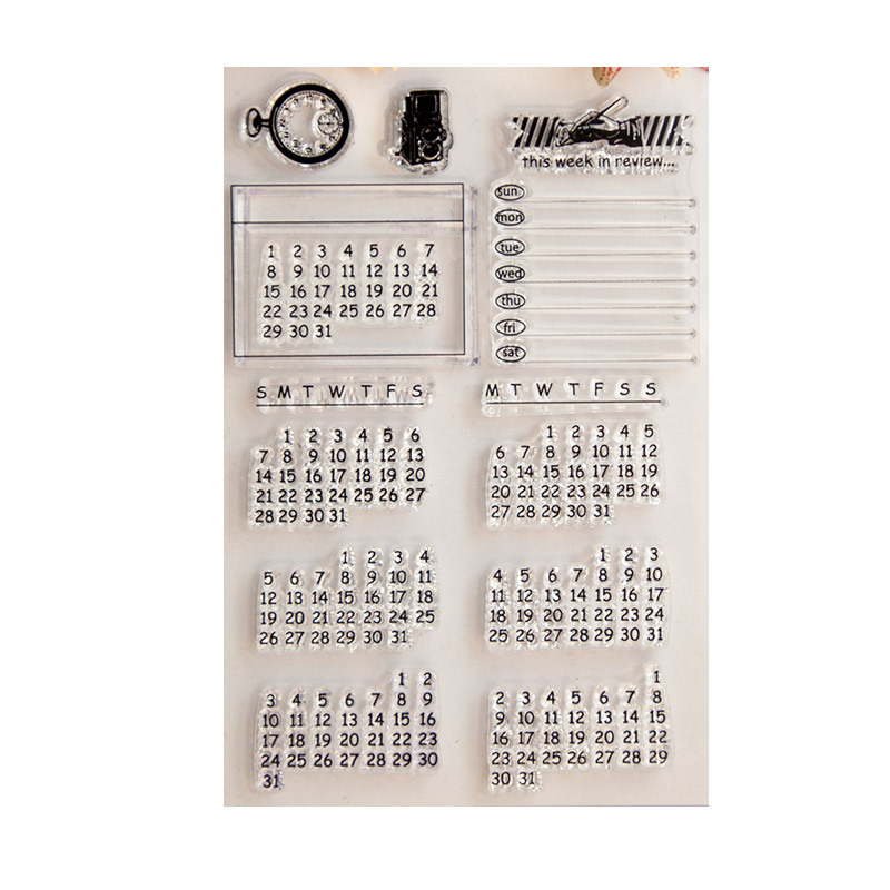 Image 2 - Clear Stamps  Perpetual calendar Scrapbook Card album paper craft handmade silicon rubber roller transparent stamps-in Stamps from Home & Garden