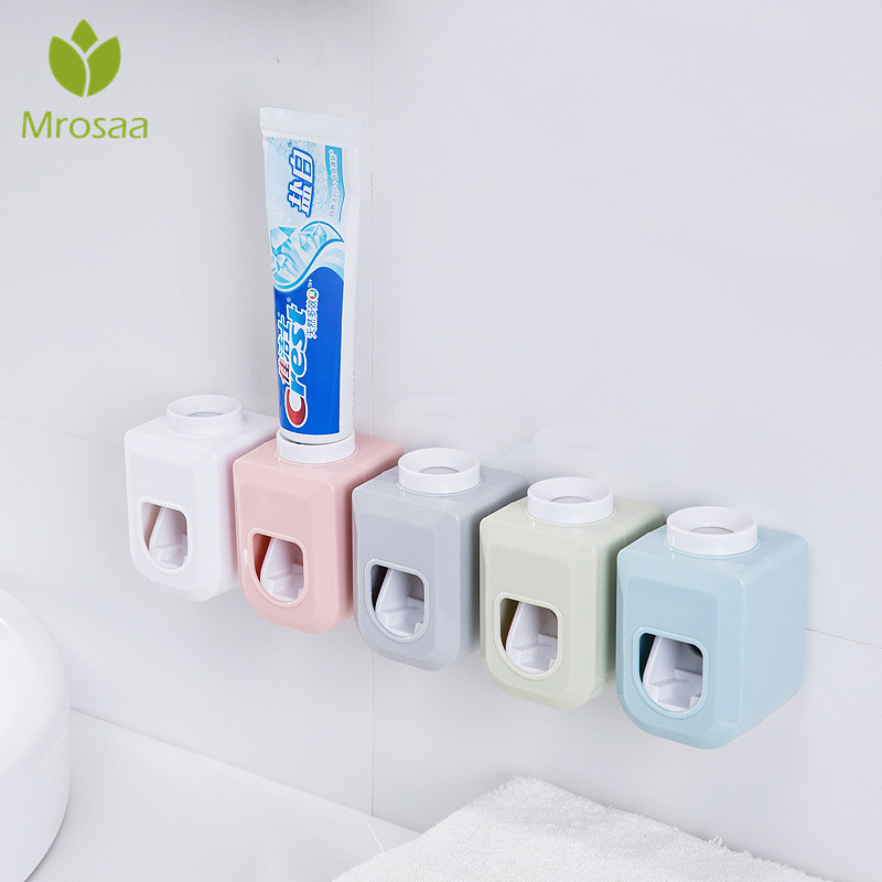 Automatic Toothpaste Squeezer Suction Wall Type Toothpaste Extrusion Artifact Toothbrush Holder Toothpaste Dispenser Rack