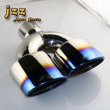 1 КОМПЛ. Выхлопной Трубы Автомобиля Универсальный Синий сварки Двойной выхлопной трубы/задняя труба автоаксессуары выхлопные советы для Mazda