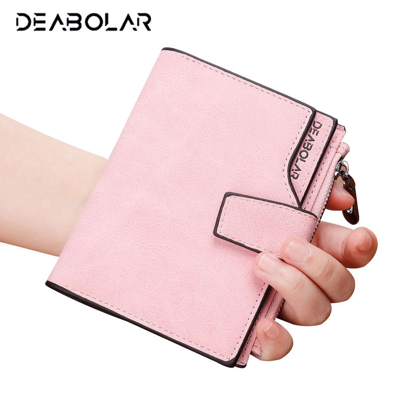 Korean Style Woman Vintage Zip Hasp Leather Wallet Famous Brand Lady Card Holder Wallets Purses for Women casual weaving design card holder handbag hasp wallet for women
