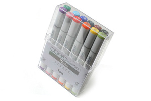 Image 2 - Copic Sketch Markers 12 Piece Art Brush Marker Set Japan
