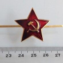 Rusia URSS Cap alfileres de solapa con placa Vintage clásicos Retro metal insignia ejército colección de souvenir The Red Army Star