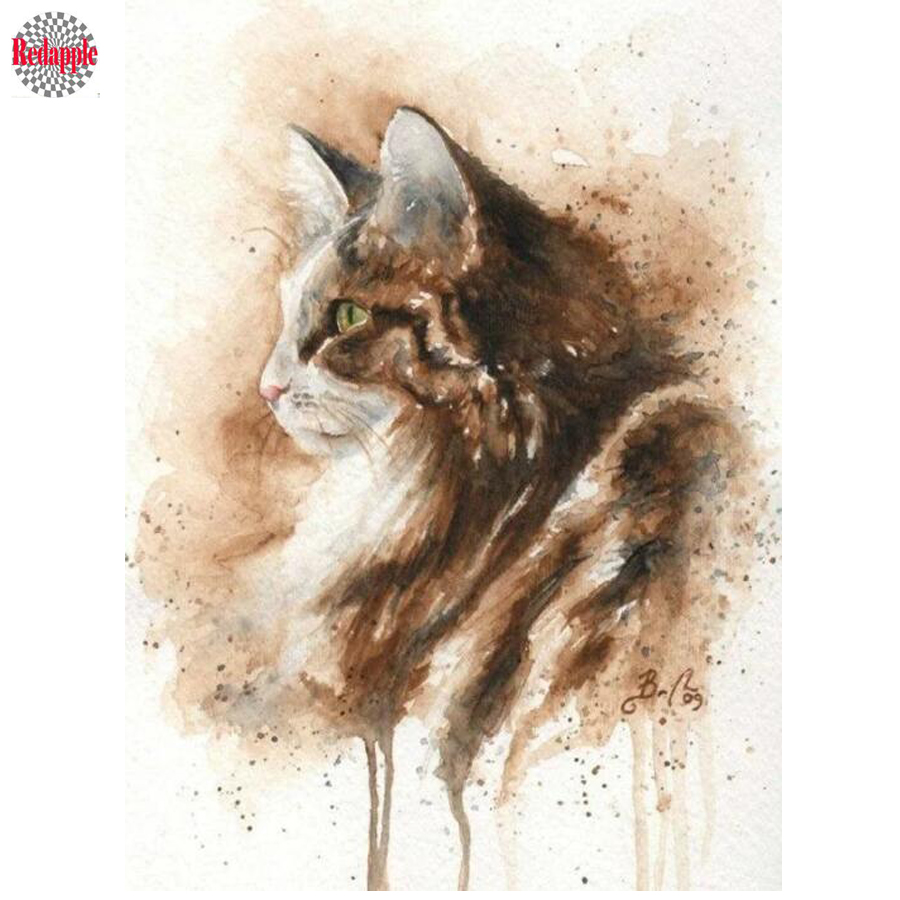 Diamond Painting 5d DIY aniaml kitten Diamond Embroidery sale cute pet cat full square round drill Mosaic diamond picture hobby(China)