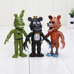Image 5 - חמישה לילות פרדי של דמות FNAF Chica בוני פוקסי פרדי Fazbear דוב בובת PVC פעולה דמויות צעצוע