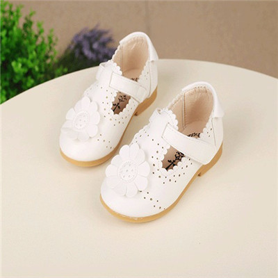 Shoes For Kids 2017 Autumn/Spring Fashion Flower Kids Shoes For Girl Leather Solid Hollow Casual Pretty Girls Shoes 9152A