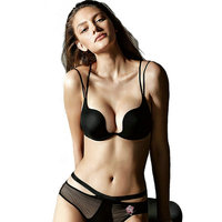 Sexy Lingerie Women Gather Bra Sets Lady Seamless U Cup Push Up Underwear Bra and Panties Set Brand Flora Embroidery Bra Briefs