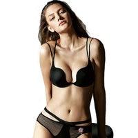 Sexy Lingerie Women Gather Bra Sets Lady Seamless U Cup Push Up Underwear Bra and Panties Set Brand Flora Embroidery Bra Briefs