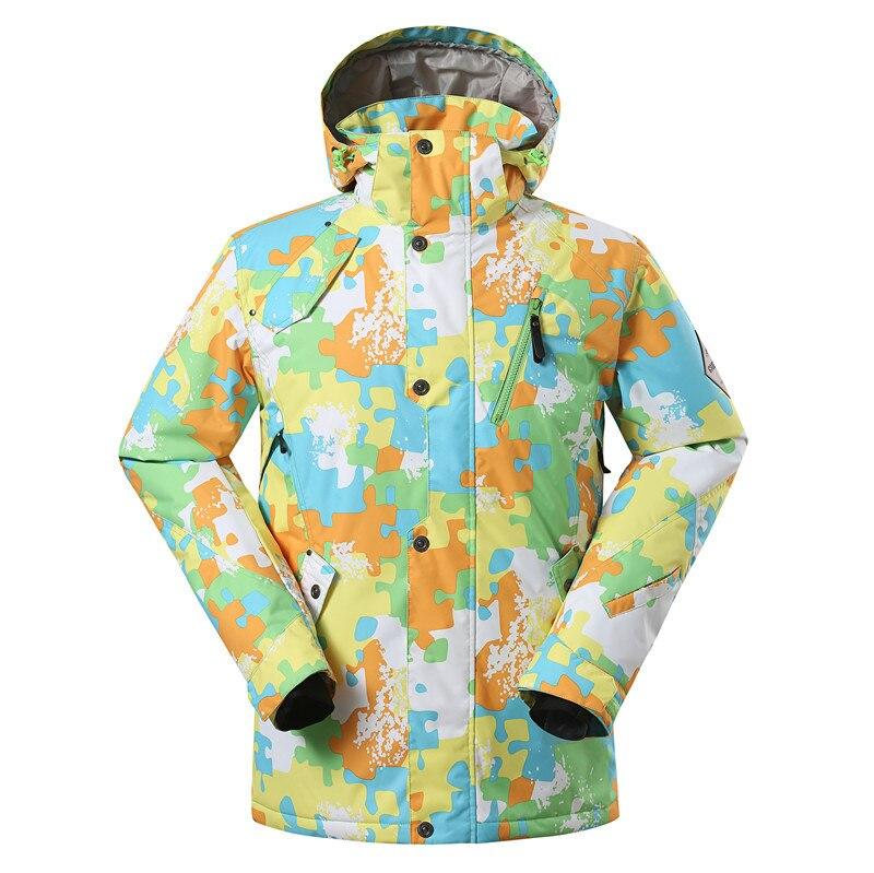 Gsou Snow costume de Ski pour hommes extérieur imperméable coupe-vent chaud Double planche simple planche veste de Ski vêtements de Ski pour hommes