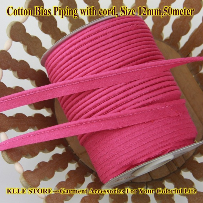 Free Shipping Cotton Bias Piping, Piping Tape,bias Tape
