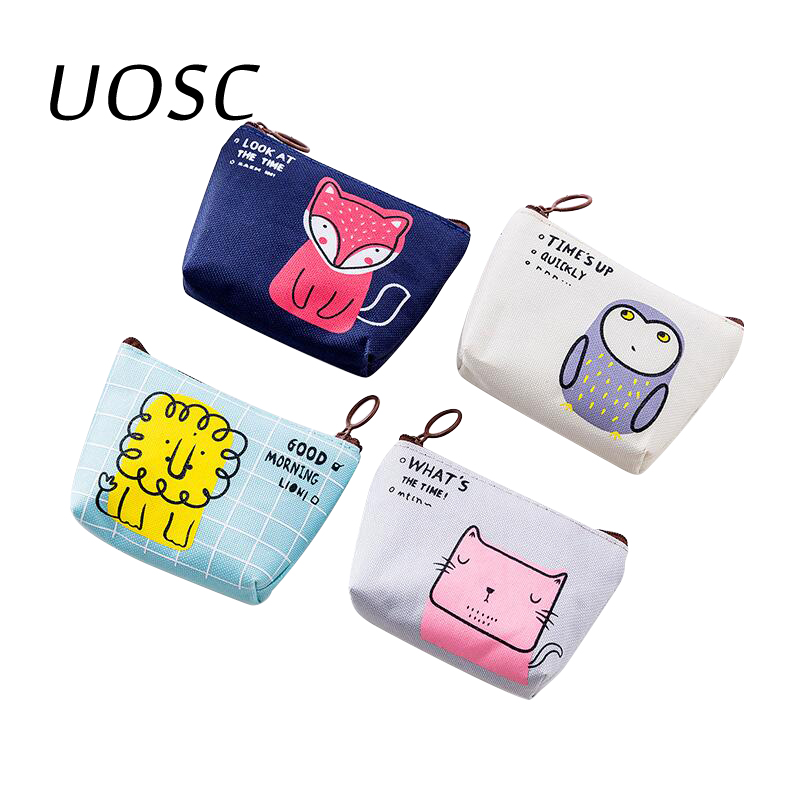 UOSC Coin Purses Women Wallets Small Cute Cartoon Animal Card Holder Key Bag Money Bags For Girls Ladies Purse Kids Children