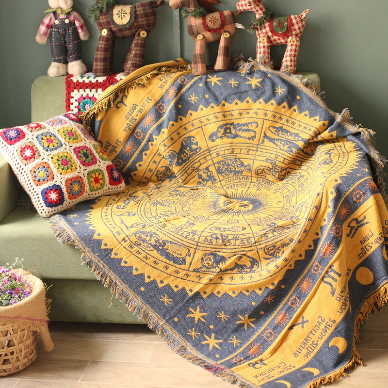 Bohemian Cotton Throw Blanket For Sofa Couch Cover Towel