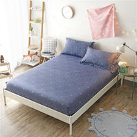 2018 100% Cotton Modern Minimalist Bed Mattress Protective Cover Anti dirty Fixed Fitted Sheet Mattress Cover Stretch Bedding