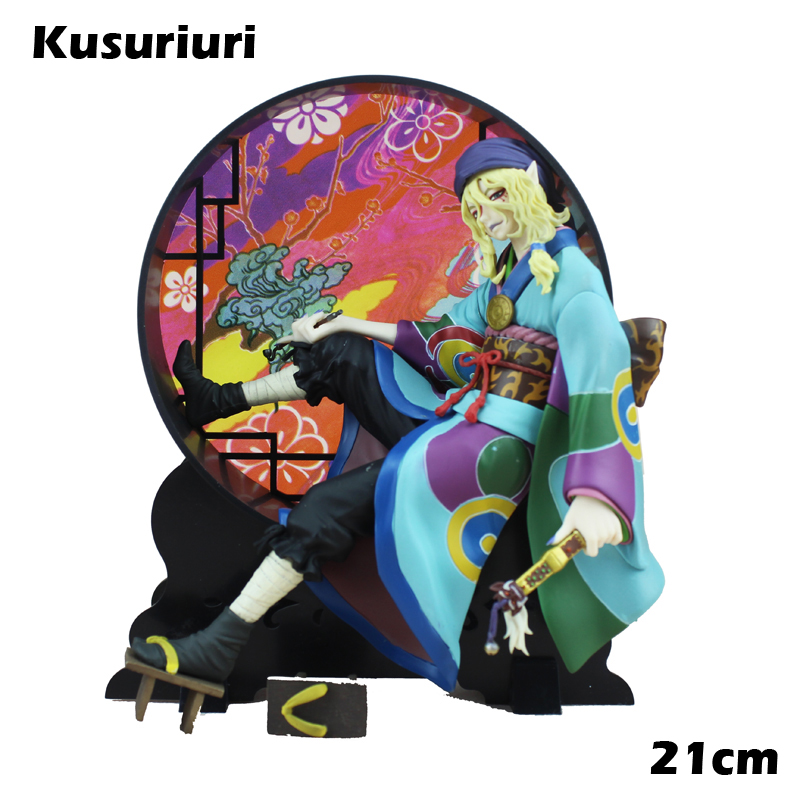 Free Shipping 8 Mononoke Ayakashi Anime Cartoon Kusuriuri - Medicine Seller Boxed 21cm PVC Action Figure Model Doll Toys Gift anime mononoke kusuriuri ayakashi kusuriuri 1 8 scale painted pvc action figure collectible model toys doll 21cm acaf023