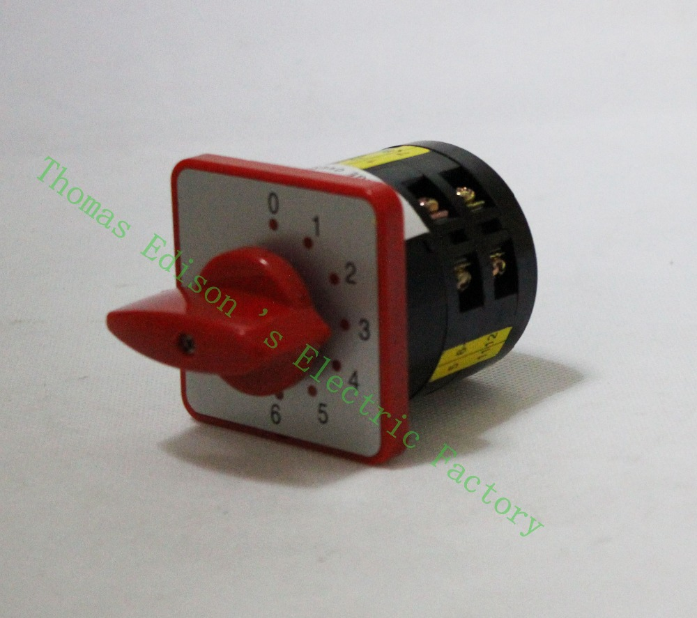 DIANQI changeover switch  lw6-5/1-6 5a 380v 6 position Universal Changeover combination switch 2 knots lw6 changeover switch lw6 1 a028 10a 380v universal changeover combination switch one knots lw6