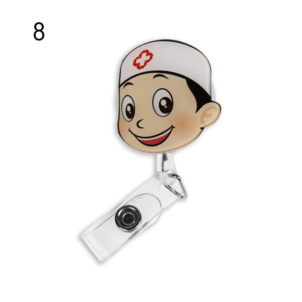 1 шт. Милая мультяшная мини-выдвижная катушка для бейджа медсестры Lanyards ID Имя карты держатель для бейджа клип студенческий значок медсестры держатель офис S - Цвет: 8