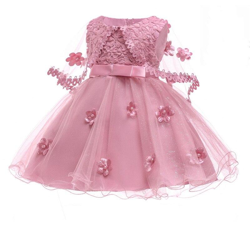 Moda venta oficial calidad superior 1-10 años 2019 nuevos vestidos de fiesta de princesa de Navidad para Niñas  para fiesta bebé moda vestido de tutú Rosa niñas boda vestido de vestido de  ...