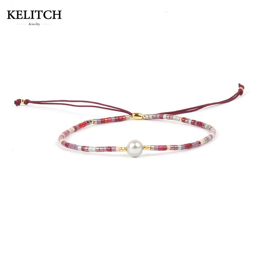 KELITCH Freundschaft Armbänder Schmuck Seed perlen kristall armband Charme Armbänder Einzel Wrap Handgemachte armband für geschenk