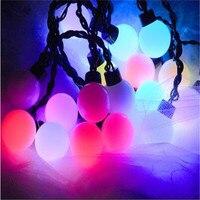 5 m Grand Globe Boules Colorées LED Chaîne Lumières Créatives En Plein Air Intérieur Décorations Festival Arbre Lumières Jardin Guirlandes H-17