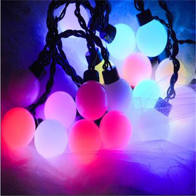 5m Globe Colorful Led String Lights Outdoor Creative Indoor Decorations Festival Tree Garden Fairy H 17