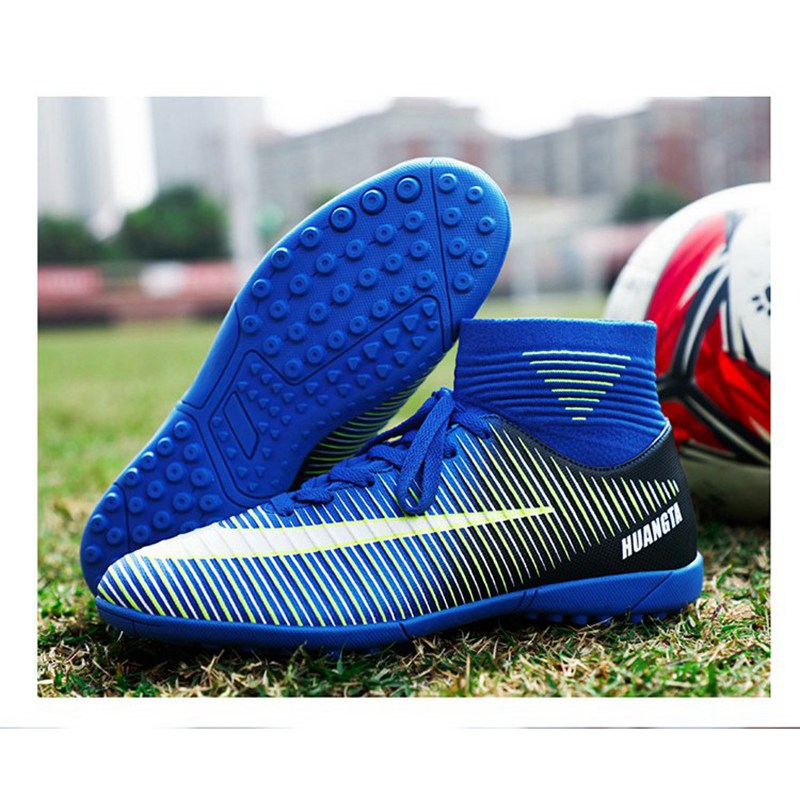 High Ankle Adult Kids Unisex TF Cleats Training Soccer Shoes Men Girl Football Shoes Boys Students Outdoor Professional AG Boots in Soccer Shoes from Sports Entertainment