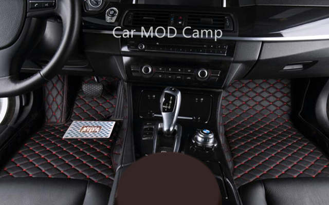 For BMW X1 E84 2011 2012 2013 2014 2015 Interior Leather Carpet Floor Mat  Car Foot Mat 1set Car Styling accessories!