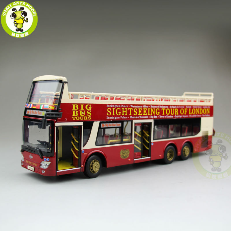 1/43 Ankai Bus Sightseeing Tour Of London BIGBUS BIG BUS Diecast Model Bus Open Top 1 43 ankai bus sightseeing tour of london bigbus big bus diecast model bus open top