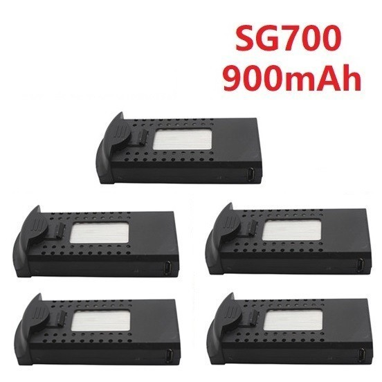 Original 3.7V 900mAh Li-po Battery for DM107S SG700 S169 RC Quadcopter Spare Parts 3.7v Drone Rechargeable Battery <font><b>752560</b></font> 5pcs image