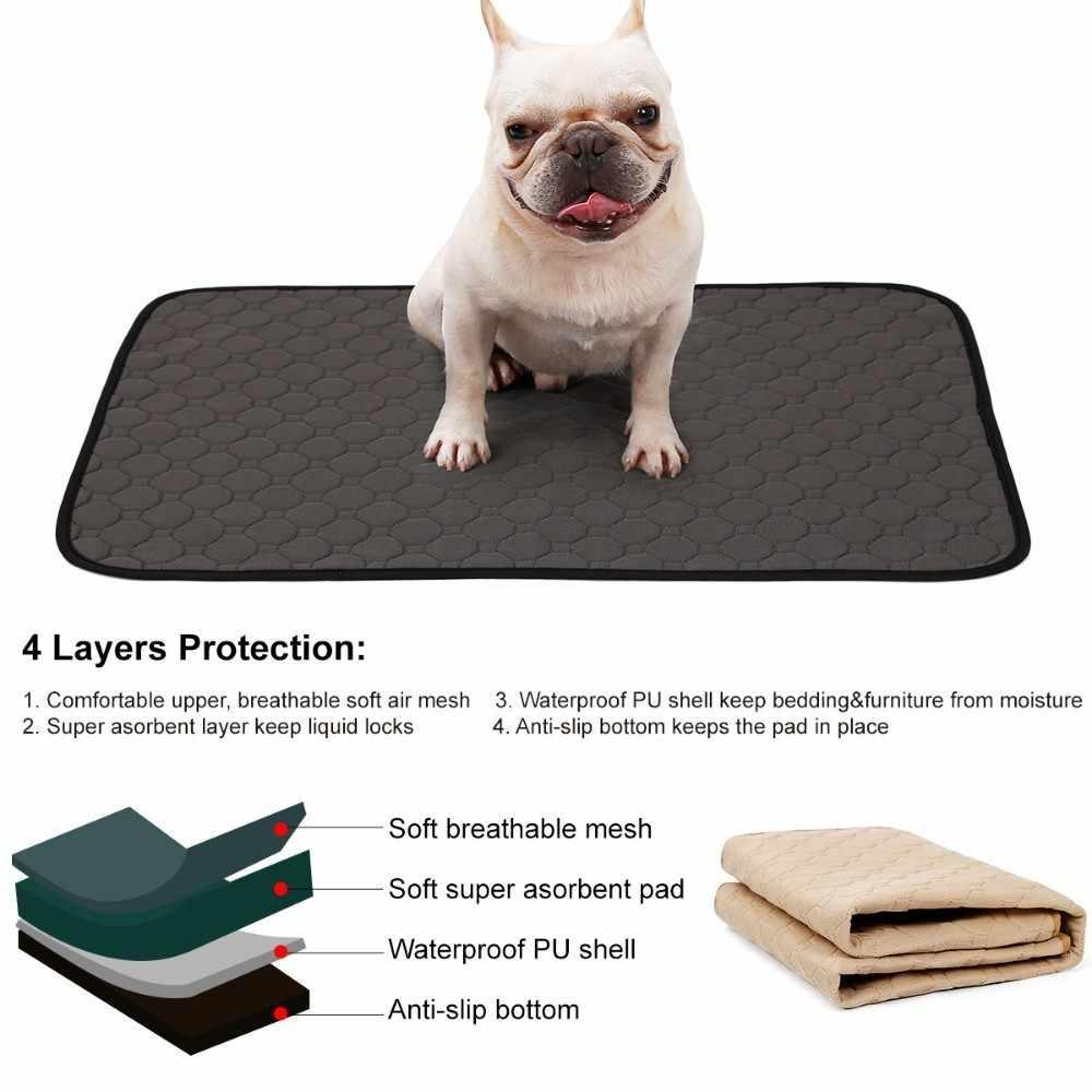 Моющаяся пеленка для животных, коврик для собак, поглотитель мочи, Защита окружающей среды, пеленка, водонепроницаемый многоразовый, учебная площадка, собачий чехол для сиденья автомобиля