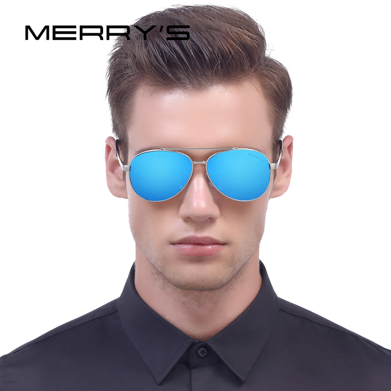 MERRY'S Men Classic Aviation Sunglasses HD Polarized Luxury Brand - Accesorios para la ropa - foto 2