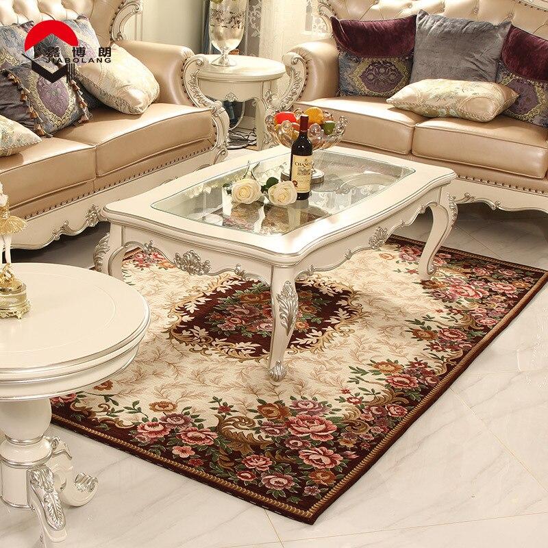 De luxe Européenne Tapis Classique Non-slip Jacquard Tapis pour Salon Canapé Tapis De Sol Paillasson Floral Tapis Chambre Salon