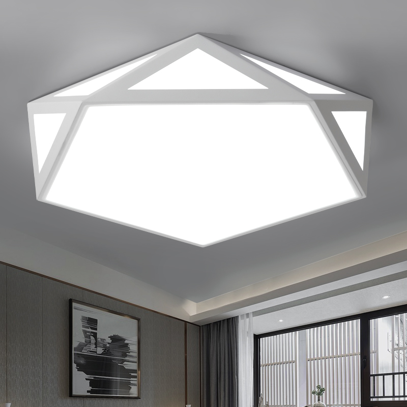 DAR Geometry Ceiling Light White Black Modern Led Ceiling Lamp Lights Surface Mounted Led Light Ceiling Lighting Fixture