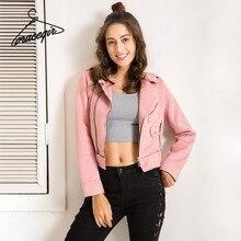 Фотография Gracegirl Autumn New Jackets Series Suede Velvet Full Sleeve Basic Outwear & Coats For Woman Short Winter Bomber Jacket Femme