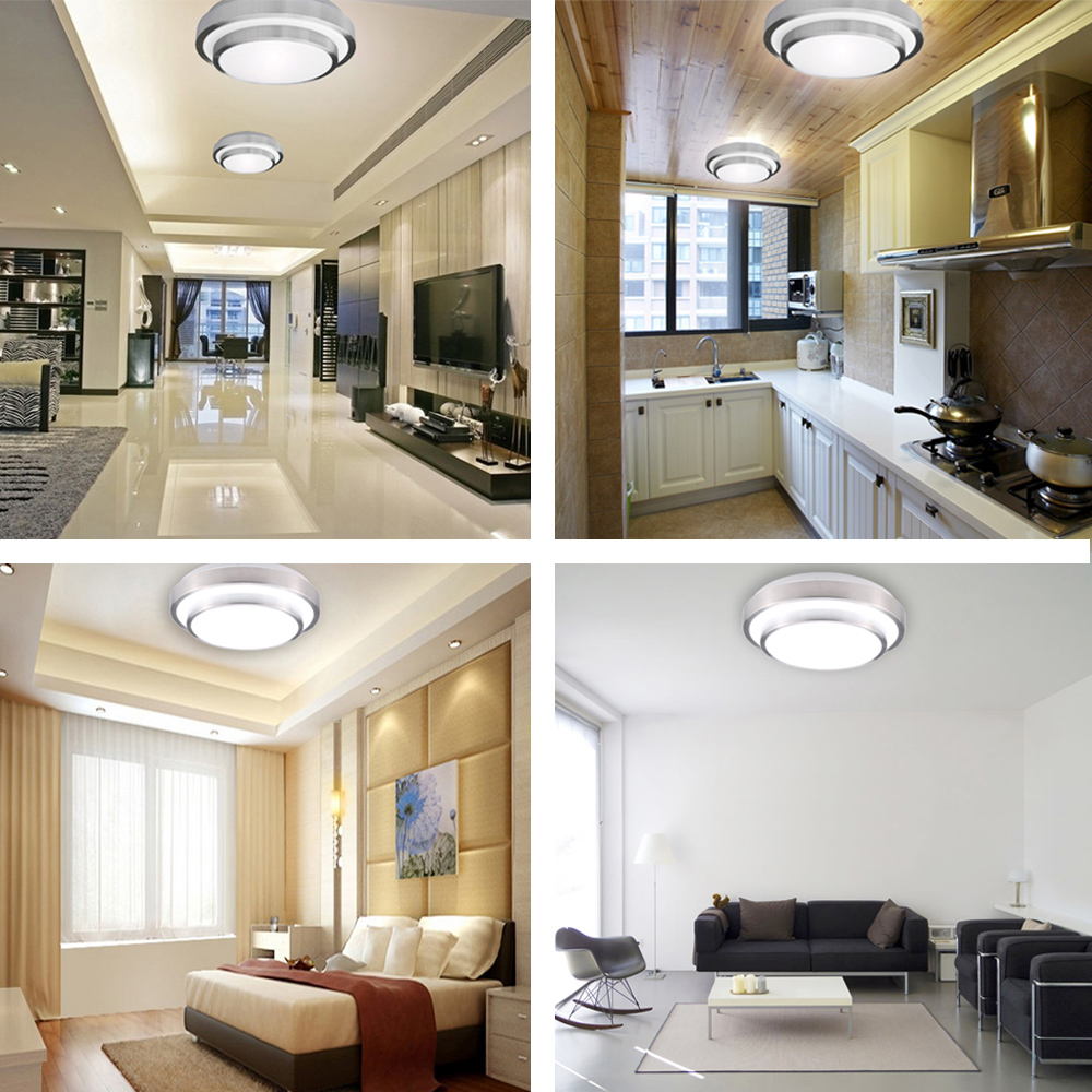 18W 110 240V LED Ceiling Light Contemporary Lamp Round Shaped1200LM ...